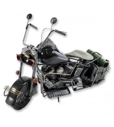 Motocicleta decorativa preta