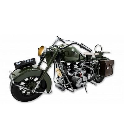 Grünes dekoratives Motorrad