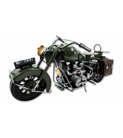 Moto décorative verte