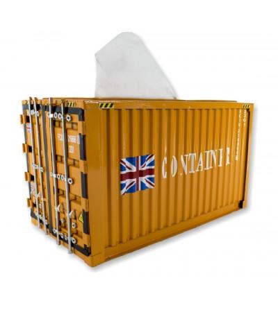 Container tissues orange