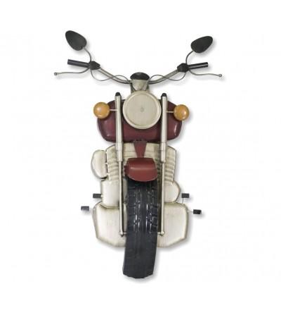 Motocicleta metálica decorativa vermelha