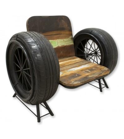 Sillón vintage con neumáticos