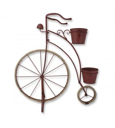 Fioriera rossa per biciclette