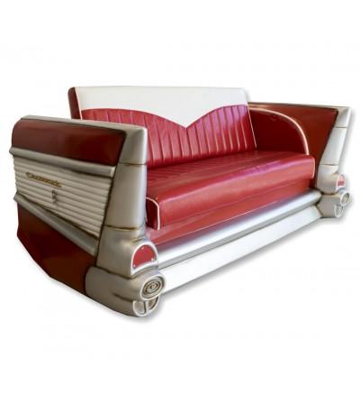 Red Chevrolet car sofa
