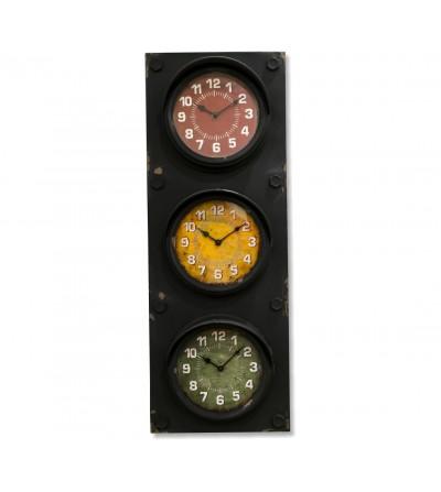 Horloge de feu de signalisation à 3 sphères