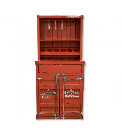 Mueble botellero contenedor vintage industrial