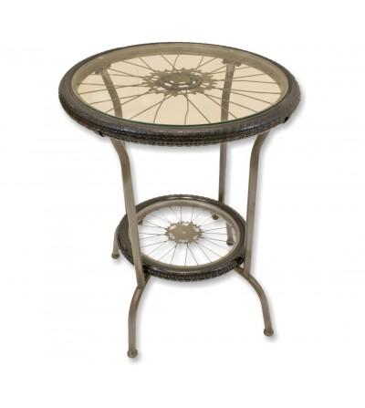 Vintage table bicycle wheels