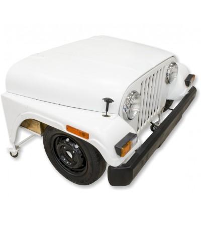 Vintage weißer Jeep Schreibtisch