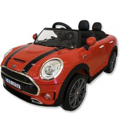 Mini red children's electric car