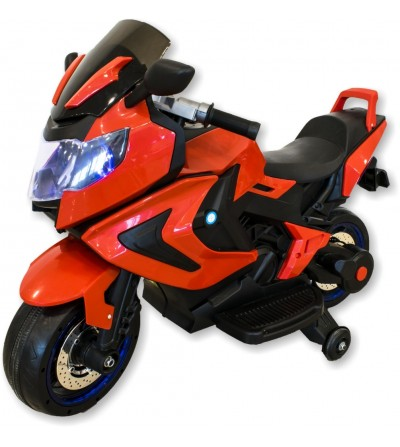 Red children's electric motorcycle