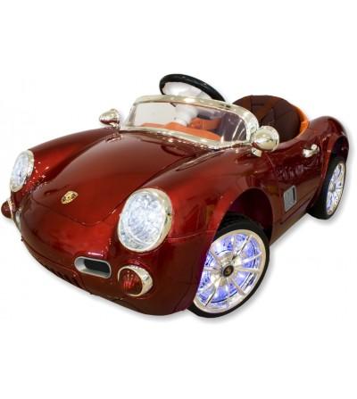 Coche eléctrico infantil Porsche burdeos