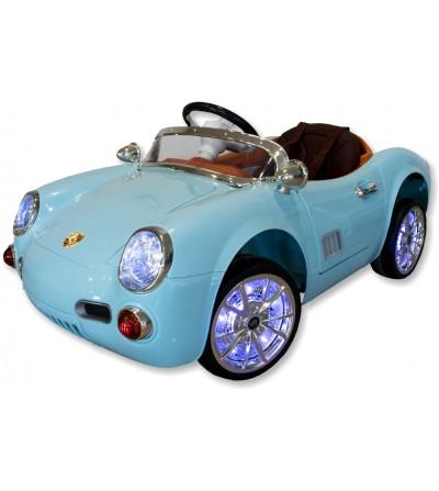 Auto elettrica per bambini Porsche celeste