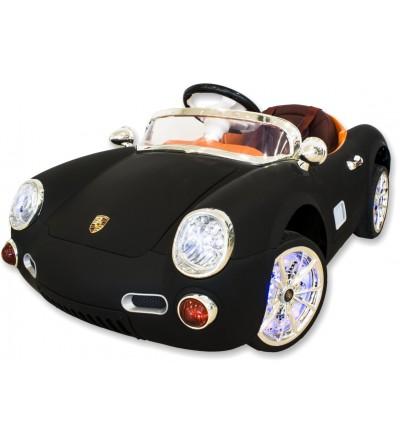 Porsche preto de carro elétrico infantil