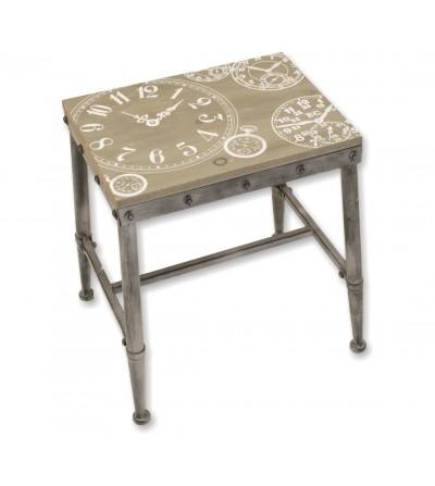 Rectangular painted clock stool