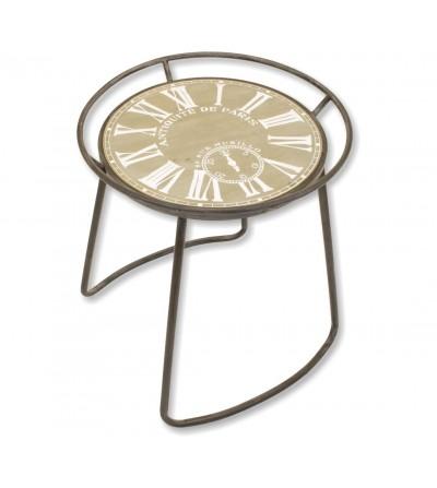 Mesa redonda reloj pintado