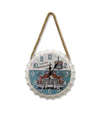 Orologio da parete vintage con piatto portabottiglie