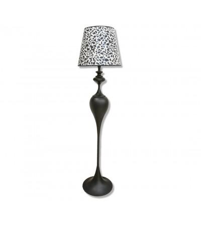 Lámpara vintage de pie print leopardo 1,70 metros