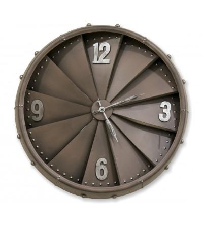 Relógio de turbina de avião marrom vintage