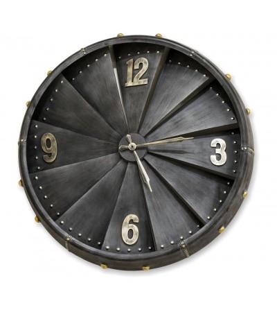Relógio de turbina de avião cinza escuro vintage