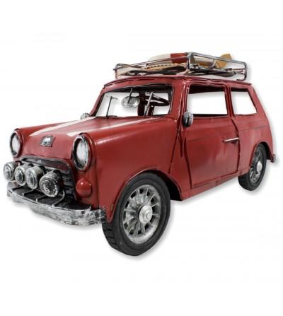 Mini automobile metallica rossa