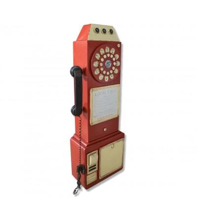 Telefone decorativo metálico