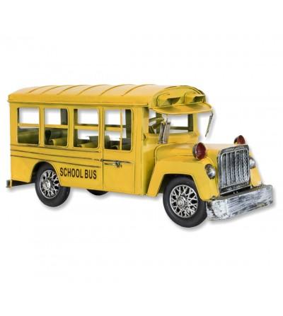 Ônibus de metal decorativo amarelo