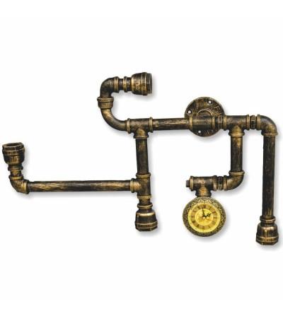 Lampe à tuyaux vintage industrielle