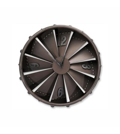 Brown metal airplane turbine clock