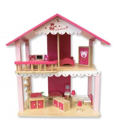 Casa delle bambole in legno