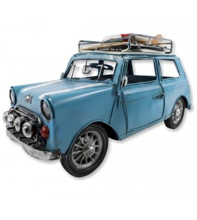 Mini automobile metallica blu