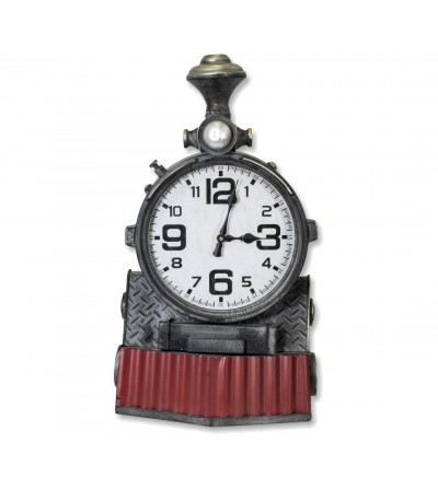 Metal train front clock