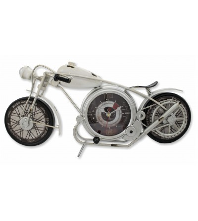 Vintage metallic weiße Motorraduhr