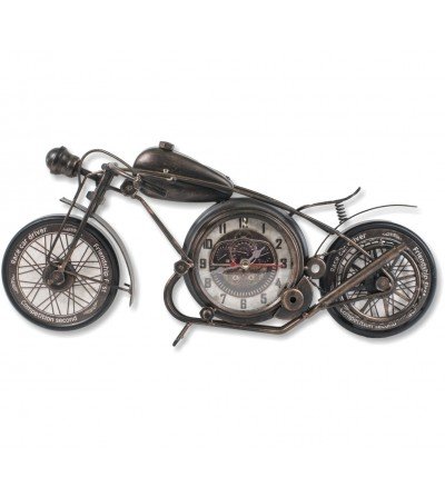 Relógio vintage preto para motocicleta e cobre metálico