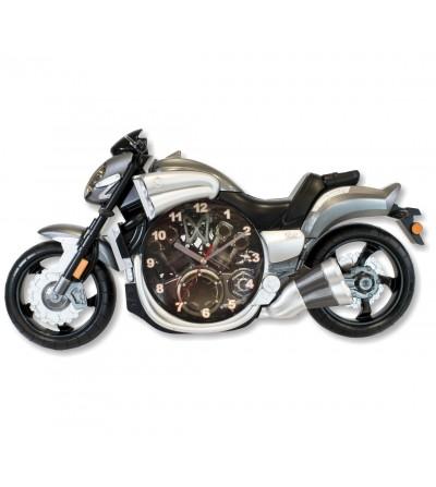 Graue Motorraduhr