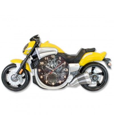 Relógio laranja motocicleta
