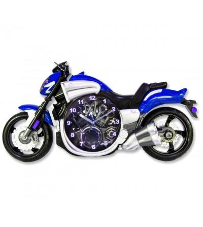 Blaue Motorraduhr