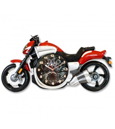 Red motorcycle clock