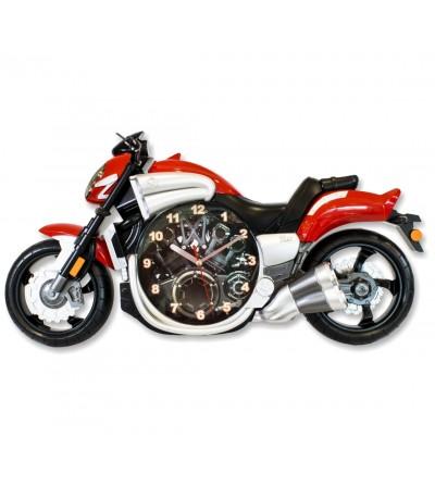 Rote Motorraduhr