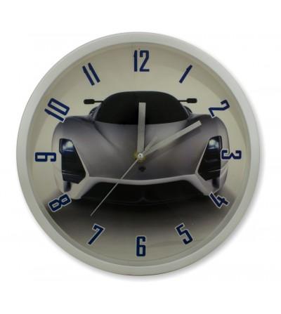 Reloj de pared coche deportivo estampado