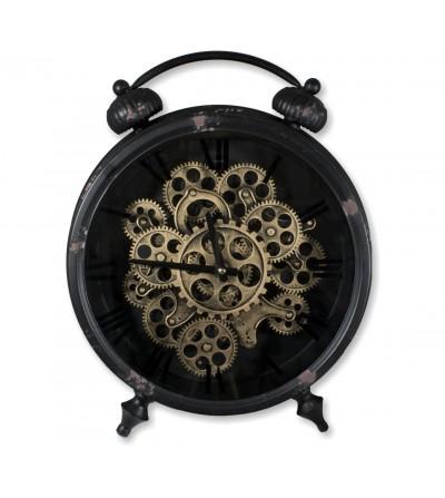 Reloj vintage de pie metalico