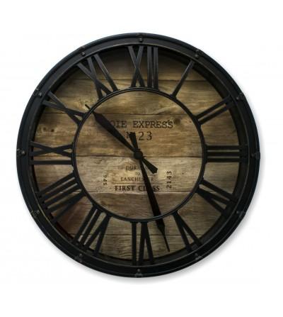 Relógio vintage de metal ocidental industrial