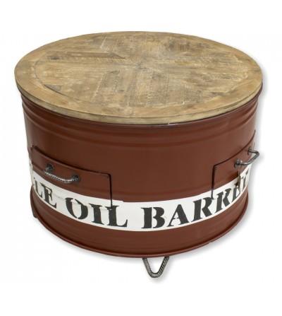 Mesa barril reciclado