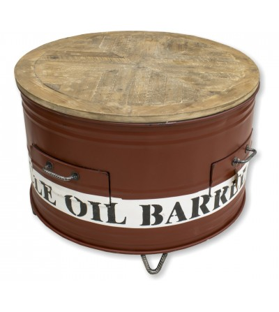 Recycled barrel table