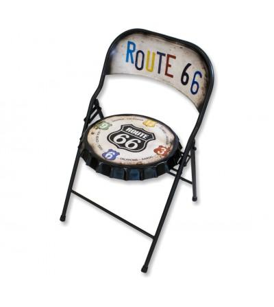 Sedia pieghevole vintage route 66