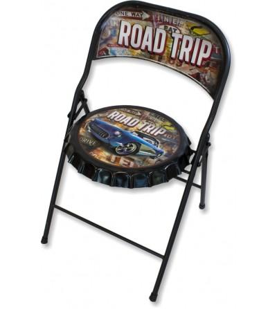 Vintage folding road trip chair