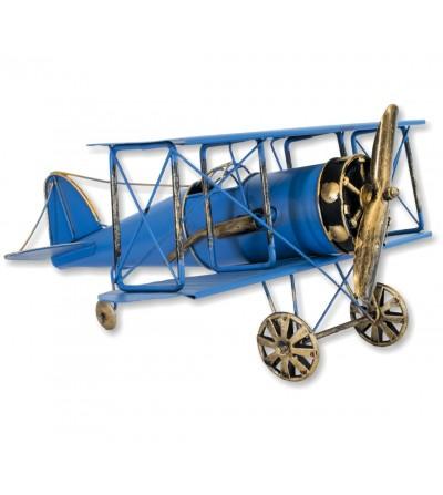 Avion décoratif en métal